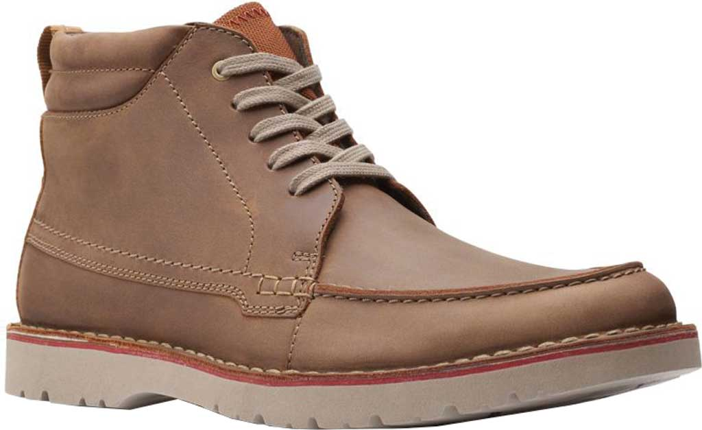 Men's Clarks Vargo Moc Toe Boot, Beeswax Full Grain Leather, large, image 1