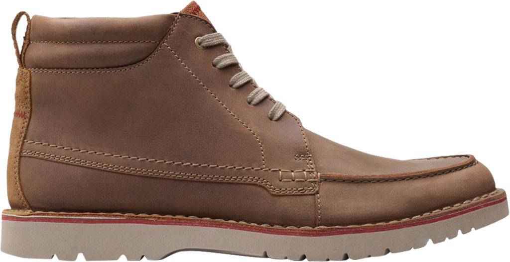 Men's Clarks Vargo Moc Toe Boot, Beeswax Full Grain Leather, large, image 2