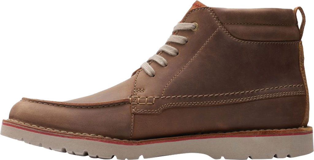 Men's Clarks Vargo Moc Toe Boot, Beeswax Full Grain Leather, large, image 3