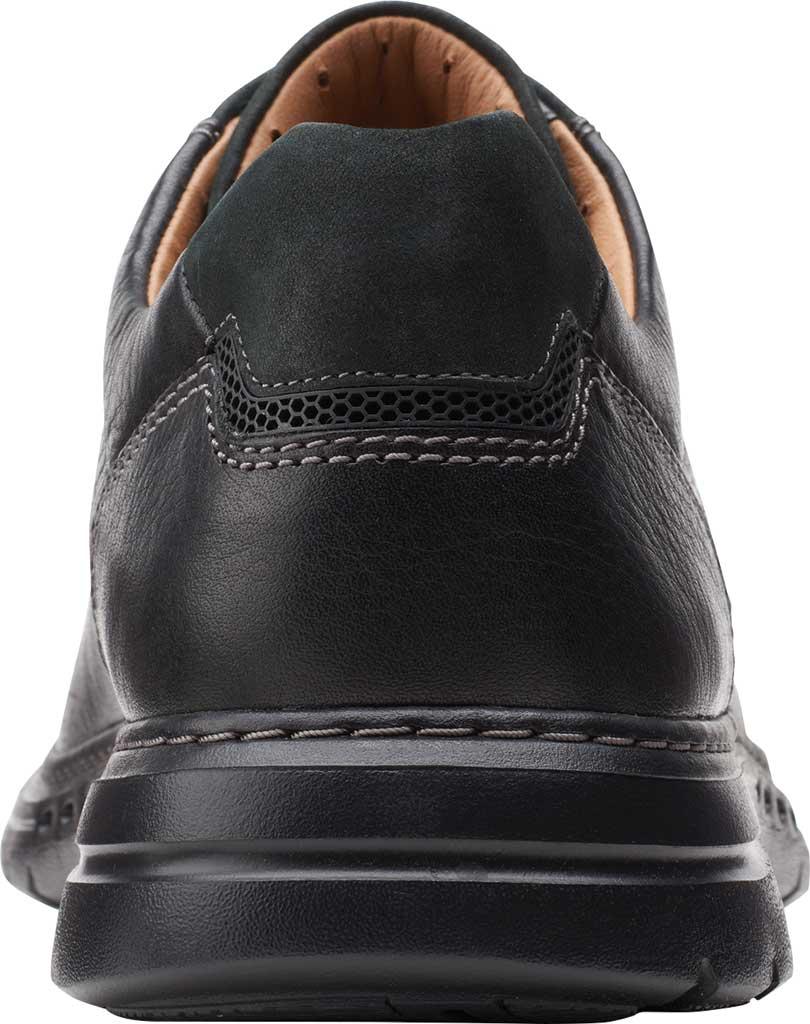 Men's Clarks Un Brawley Pace Oxford, Black Tumbled Leather, large, image 4