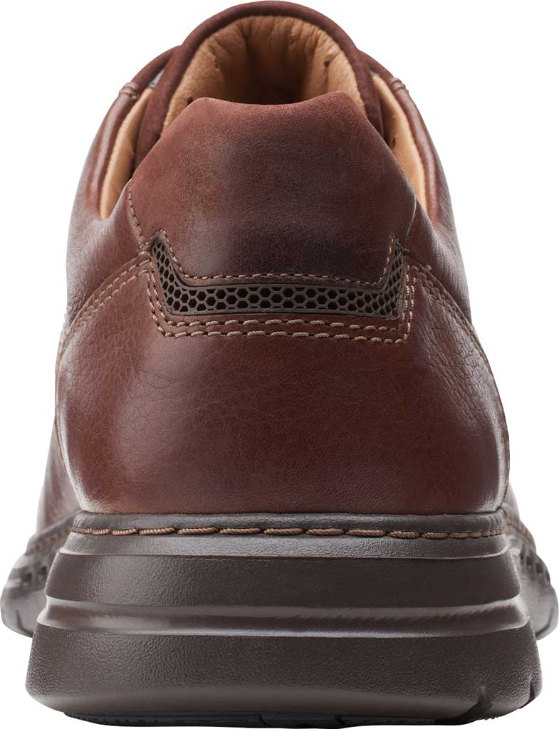 Men's Clarks Un Brawley Pace Oxford, Mahogany Tumbled Leather, large, image 4