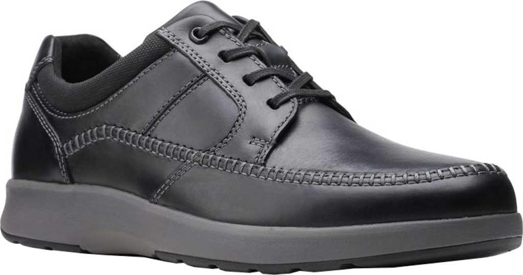 Men's Clarks Un Trail Apron Sneaker, Black Oily Leather, large, image 1