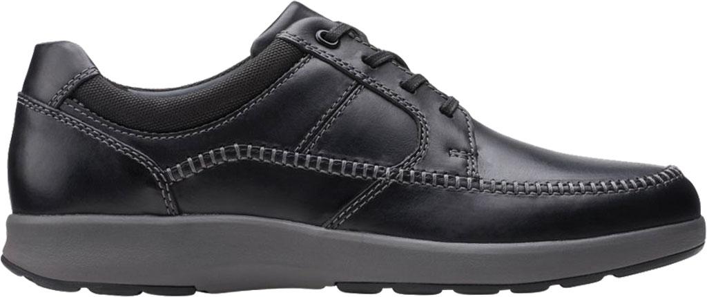 Men's Clarks Un Trail Apron Sneaker, Black Oily Leather, large, image 2