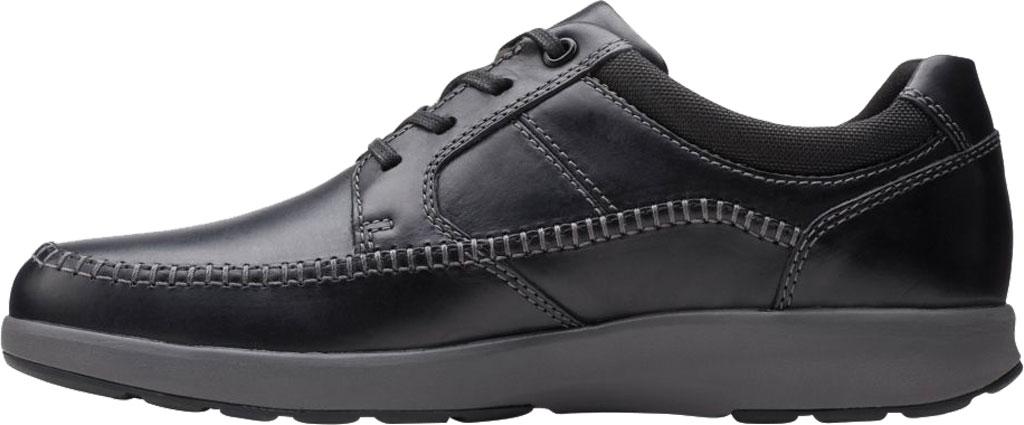 Men's Clarks Un Trail Apron Sneaker, Black Oily Leather, large, image 3