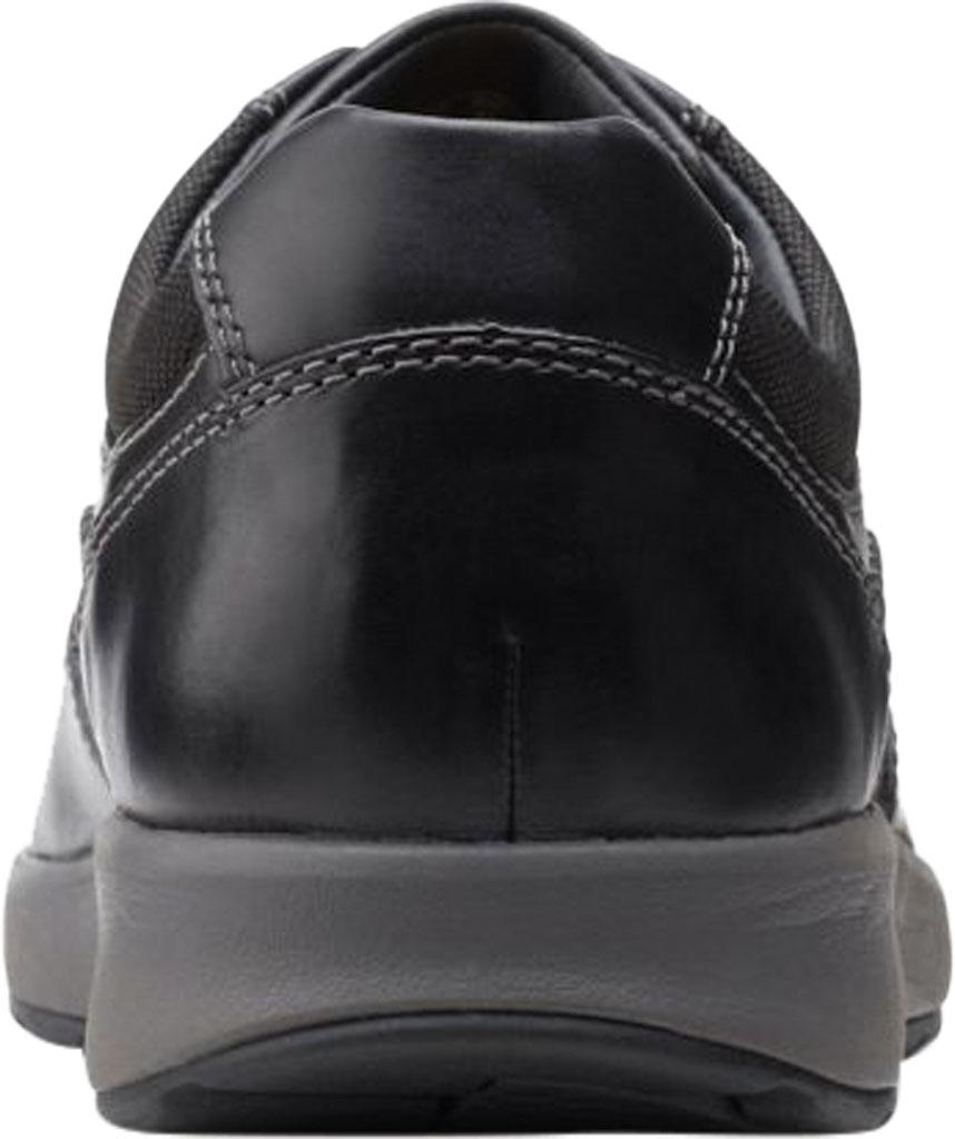 Men's Clarks Un Trail Apron Sneaker, Black Oily Leather, large, image 4