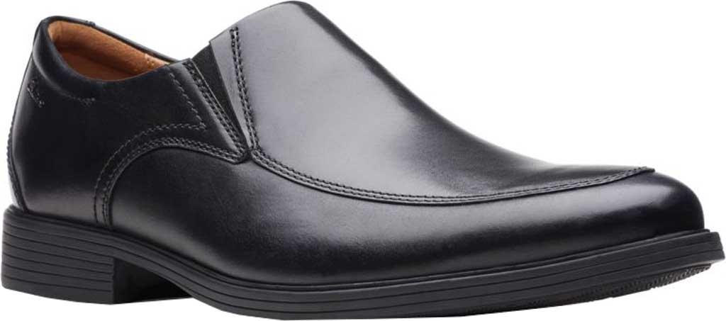 Men's Clarks Whiddon Step Loafer, Black Full Grain Leather, large, image 1