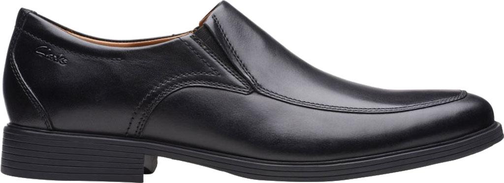 Men's Clarks Whiddon Step Loafer, Black Full Grain Leather, large, image 2