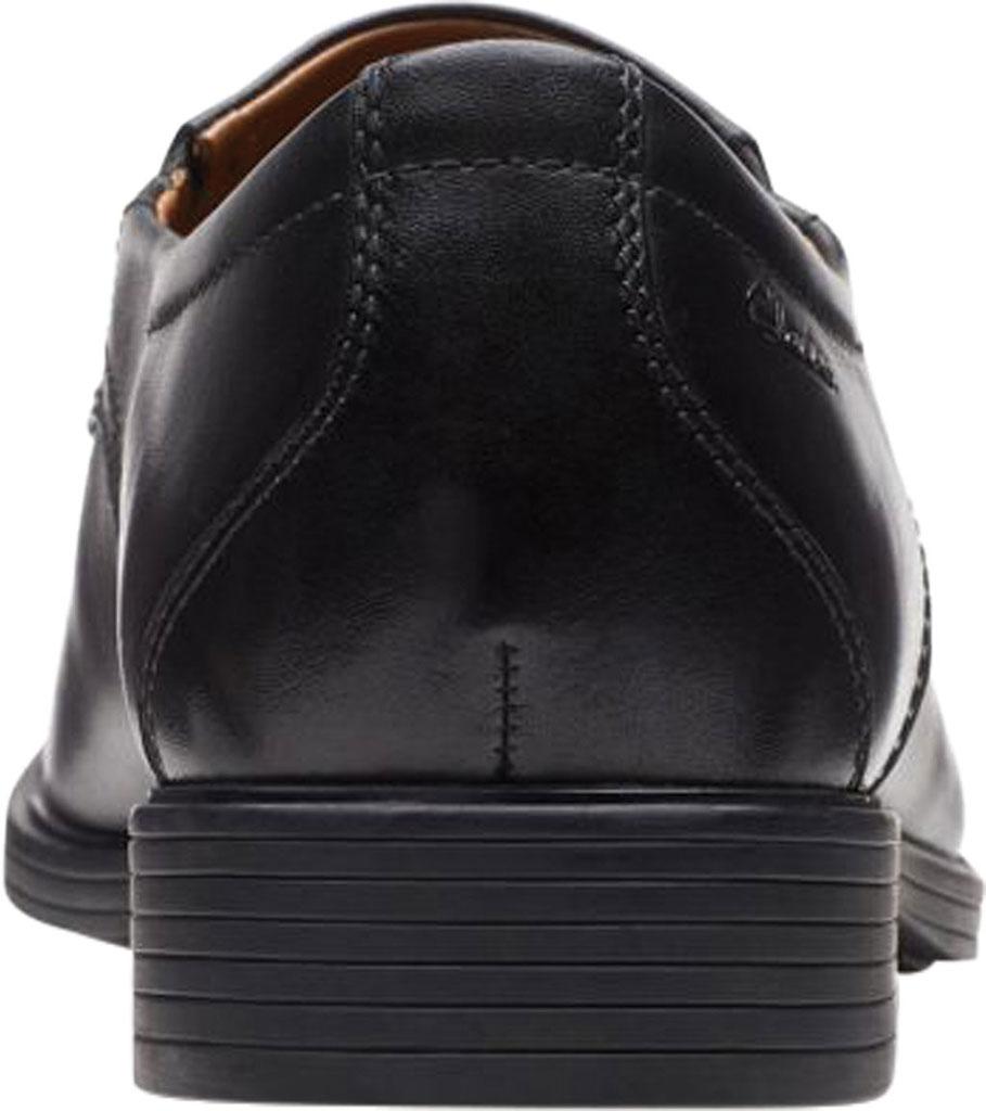 Men's Clarks Whiddon Step Loafer, Black Full Grain Leather, large, image 4