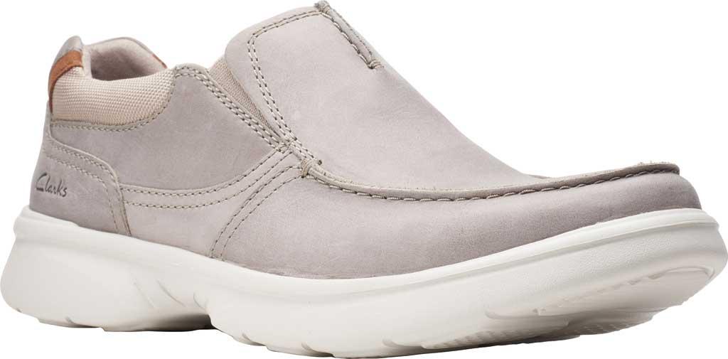 Men's Clarks Bradley Free Moc Toe Slip On, Stone Full Grain Leather, large, image 1