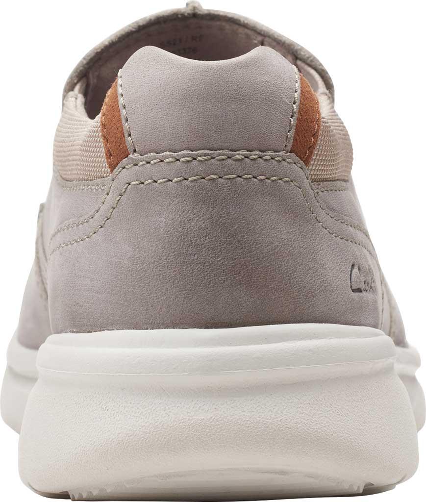 Men's Clarks Bradley Free Moc Toe Slip On, Stone Full Grain Leather, large, image 4