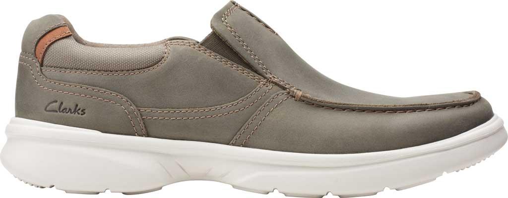 Men's Clarks Bradley Free Moc Toe Slip On, Olive Full Grain Leather, large, image 2