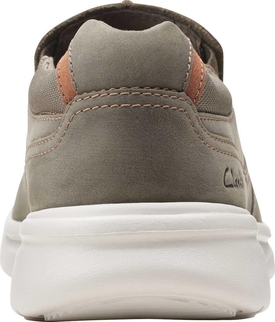 Men's Clarks Bradley Free Moc Toe Slip On, Olive Full Grain Leather, large, image 4