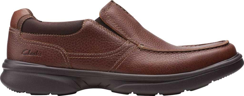 Men's Clarks Bradley Free Moc Toe Slip On, Tan Tumbled Leather, large, image 2