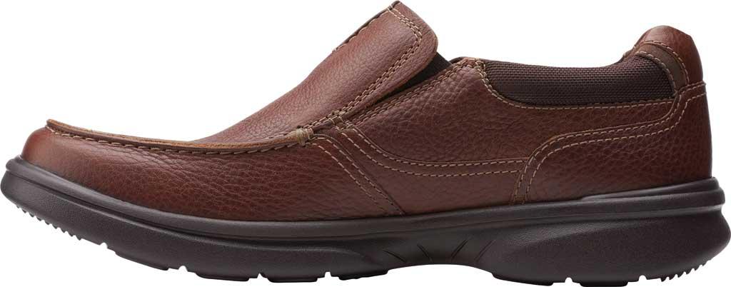 Men's Clarks Bradley Free Moc Toe Slip On, Tan Tumbled Leather, large, image 3