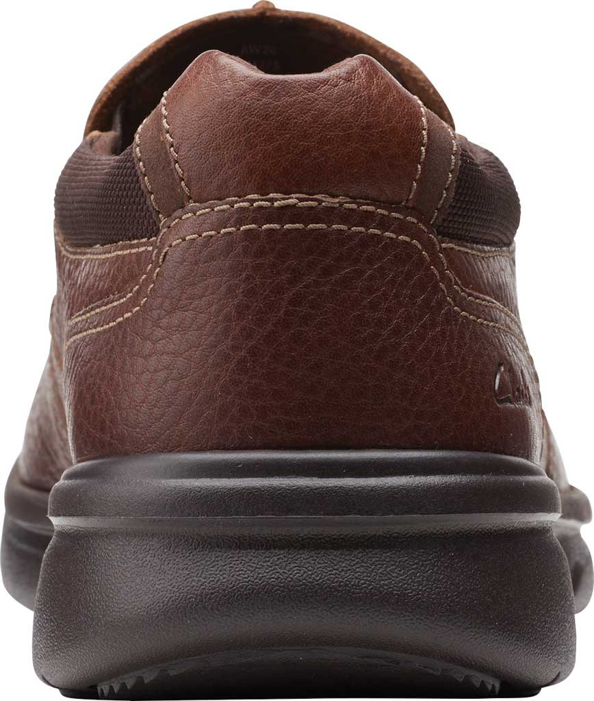 Men's Clarks Bradley Free Moc Toe Slip On, Tan Tumbled Leather, large, image 4