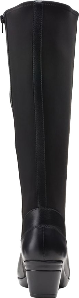 Women's Clarks Emslie Emma Wide Calf Knee High Boot, Black Leather, large, image 4