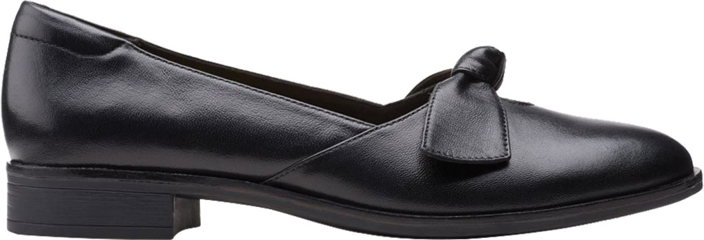 Women's Clarks Trish Wave Loafer, Black Full Grain Leather, large, image 2