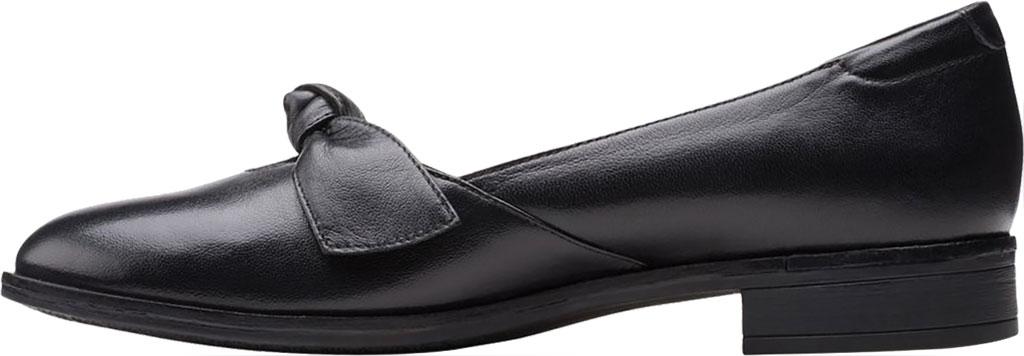 Women's Clarks Trish Wave Loafer, Black Full Grain Leather, large, image 3