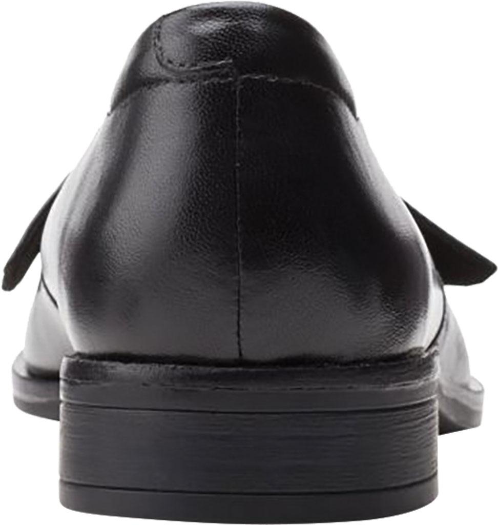 Women's Clarks Trish Wave Loafer, Black Full Grain Leather, large, image 4
