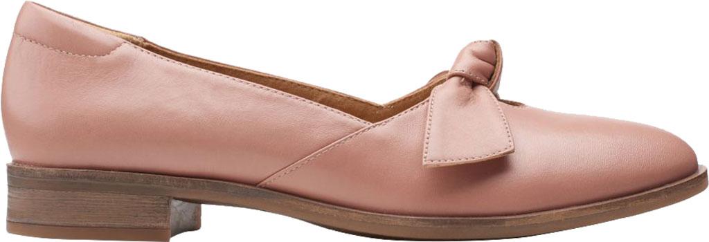 Women's Clarks Trish Wave Loafer, Rose Full Grain Leather, large, image 2