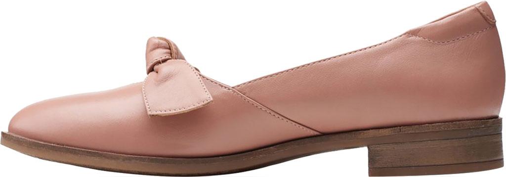 Women's Clarks Trish Wave Loafer, Rose Full Grain Leather, large, image 3