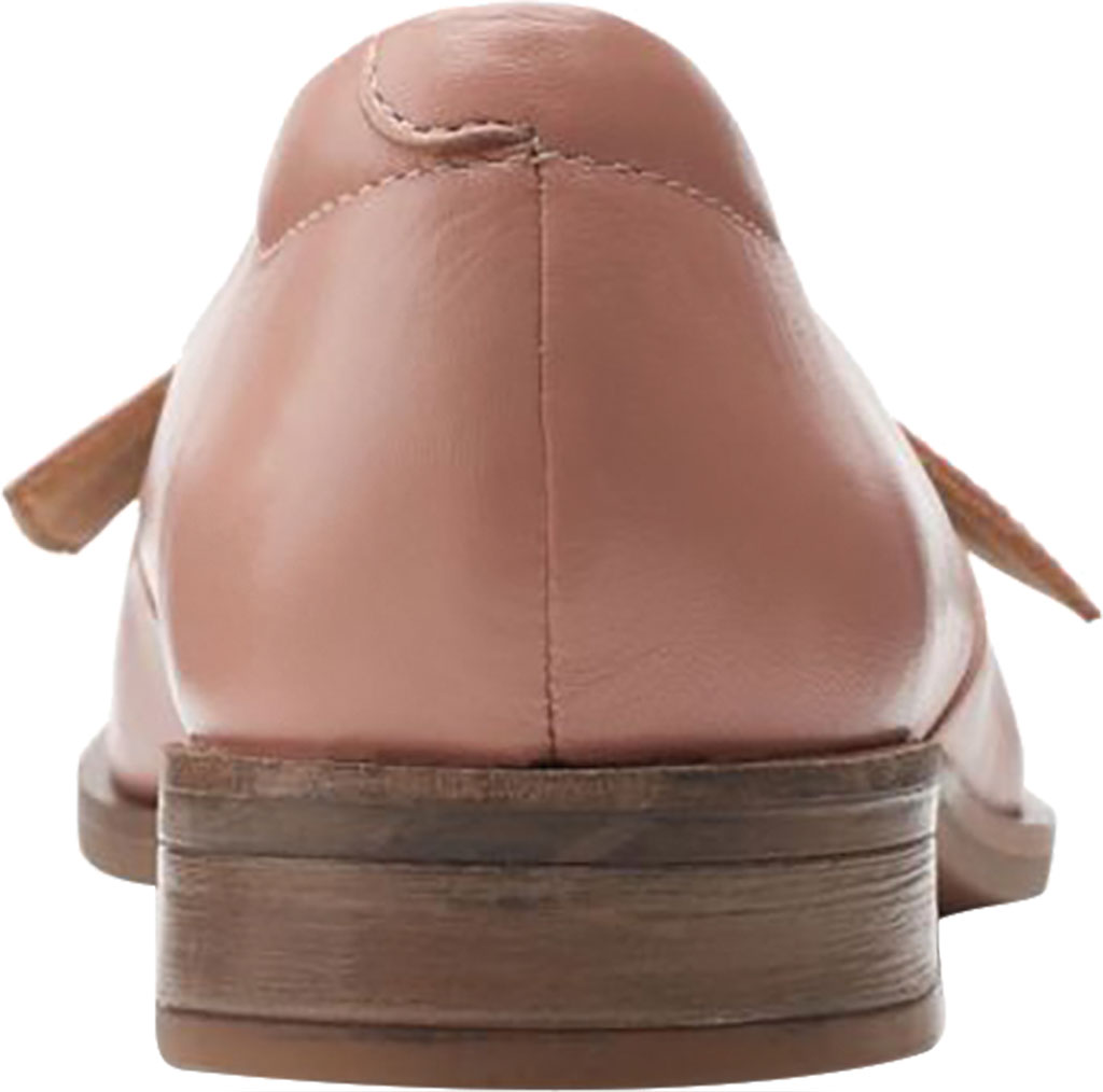 Women's Clarks Trish Wave Loafer, Rose Full Grain Leather, large, image 4