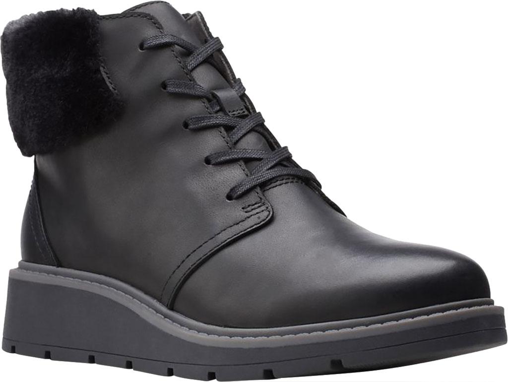 Women's Clarks Andie Go Waterproof Boot, Black Waterproof Full Grain Leather, large, image 1