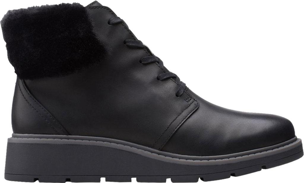 Women's Clarks Andie Go Waterproof Boot, Black Waterproof Full Grain Leather, large, image 2