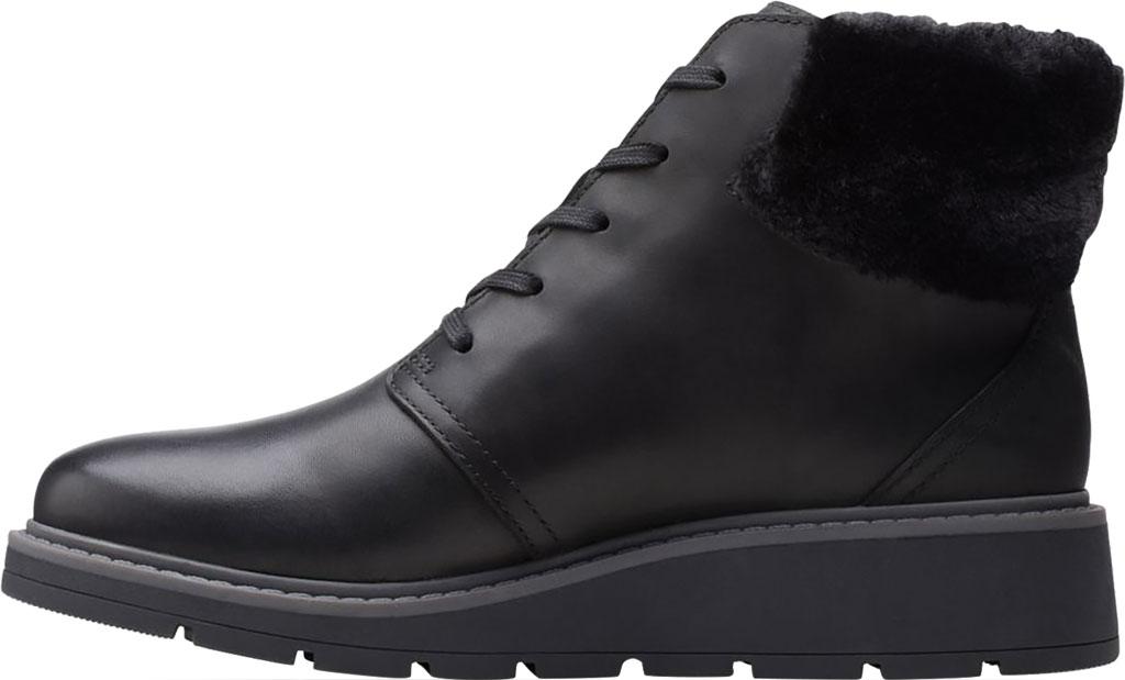Women's Clarks Andie Go Waterproof Boot, Black Waterproof Full Grain Leather, large, image 3
