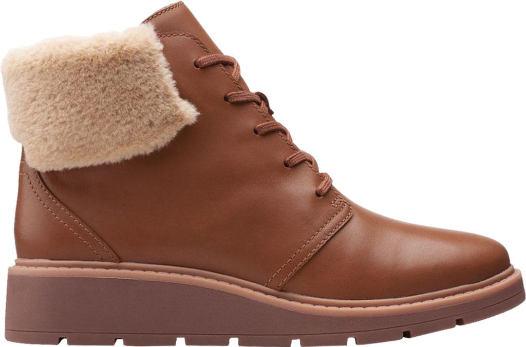 Women's Clarks Andie Go Waterproof Boot, Mahogany Waterproof Full Grain Leather, large, image 2