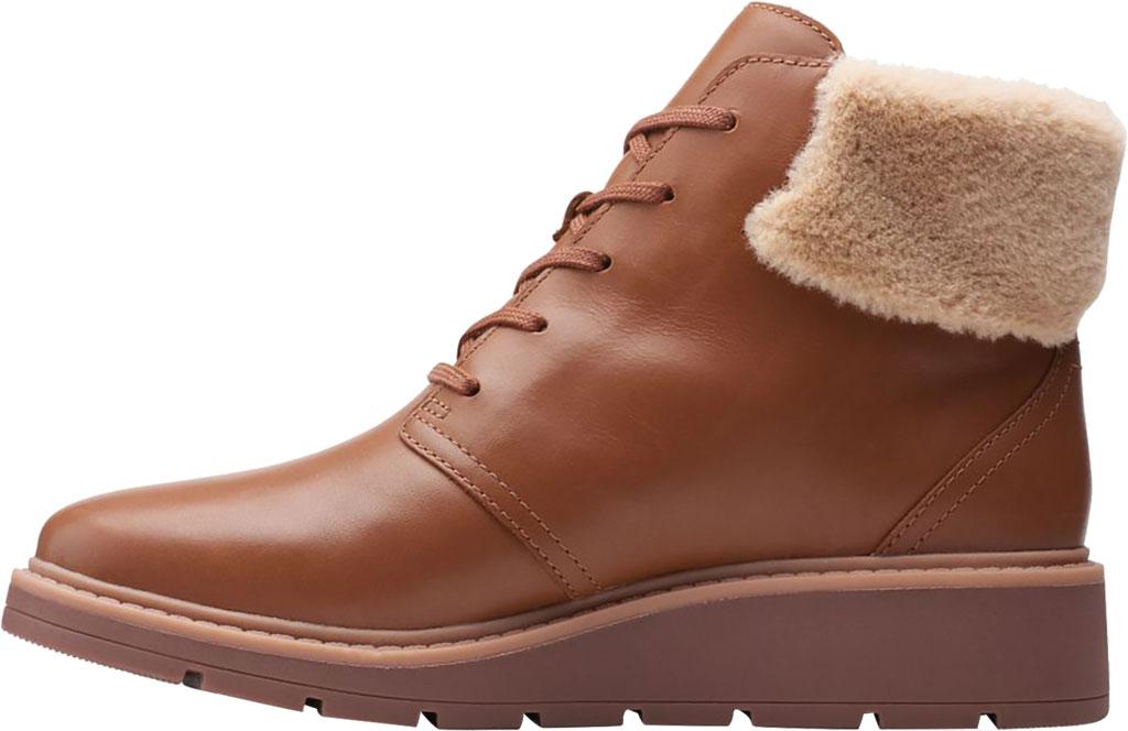 Women's Clarks Andie Go Waterproof Boot, Mahogany Waterproof Full Grain Leather, large, image 3