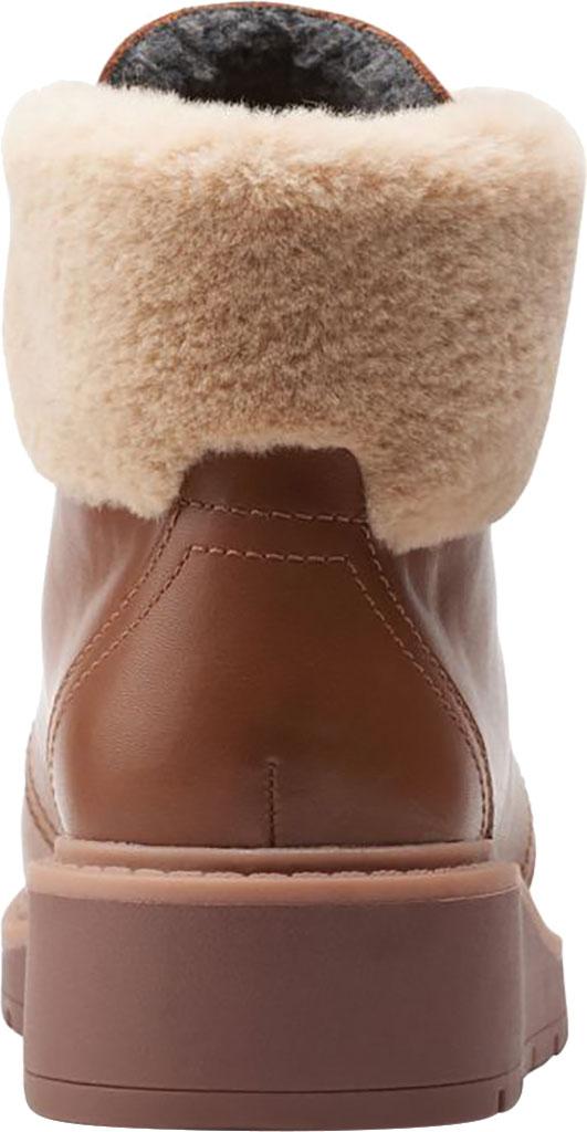 Women's Clarks Andie Go Waterproof Boot, Mahogany Waterproof Full Grain Leather, large, image 4