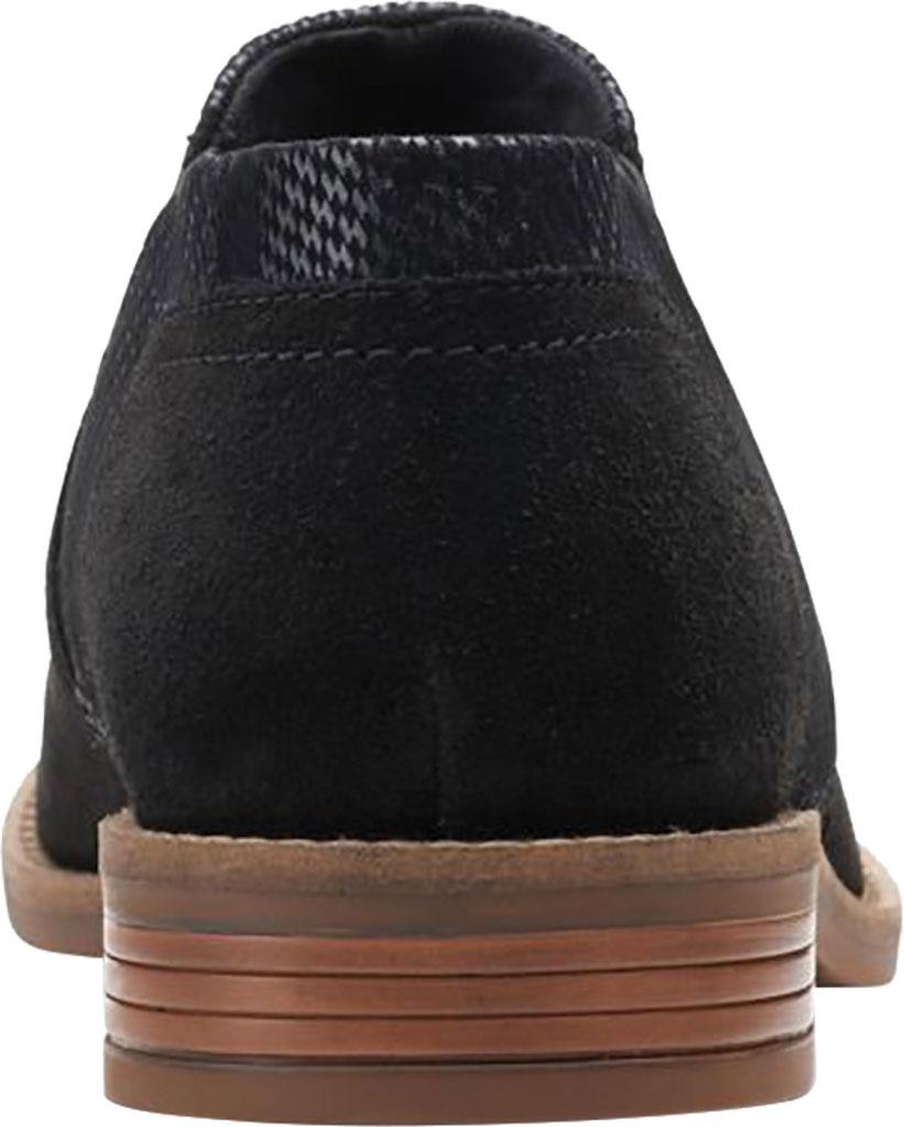 Women's Clarks Camzin Mix Ankle Bootie, Black Metallic Combination Suede, large, image 4