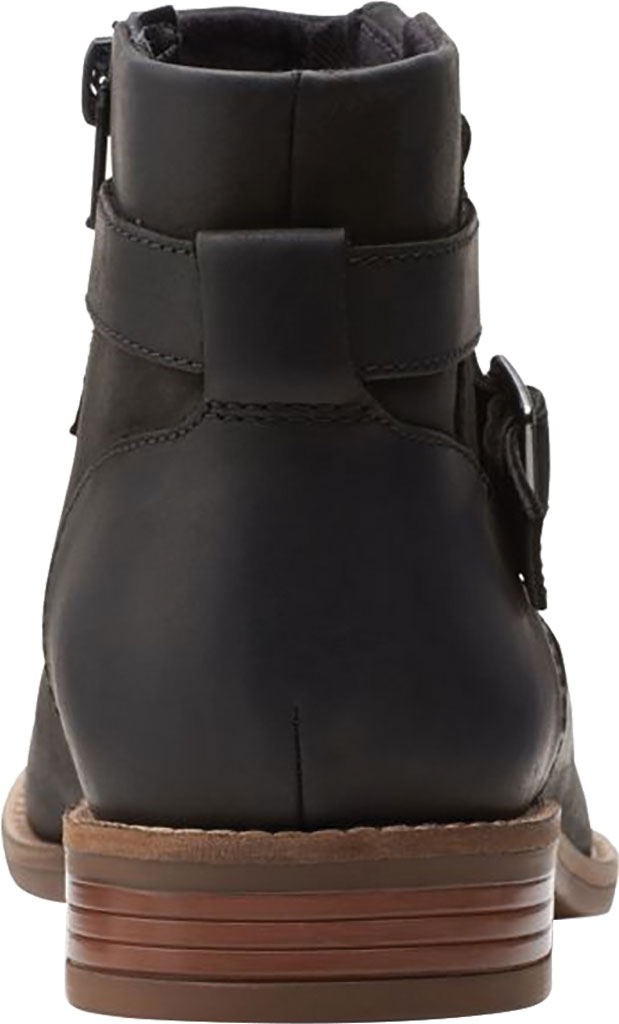 Women's Clarks Camzin Dime Ankle Bootie, Black Full Grain Leather, large, image 4