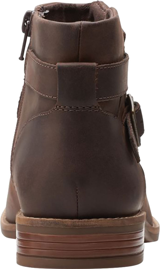 Women's Clarks Camzin Dime Ankle Bootie, Dark Brown Full Grain Leather, large, image 4