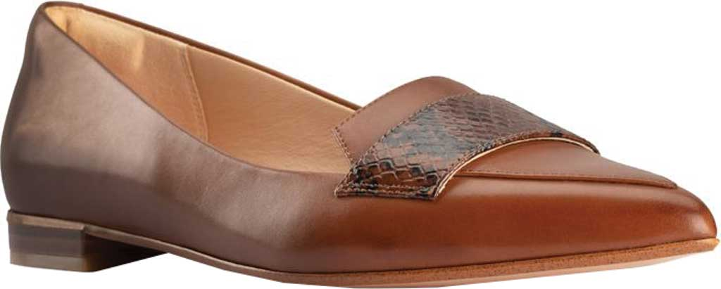 Women's Clarks Laina15 2 Loafer, Dark Tan Combination Leather, large, image 1
