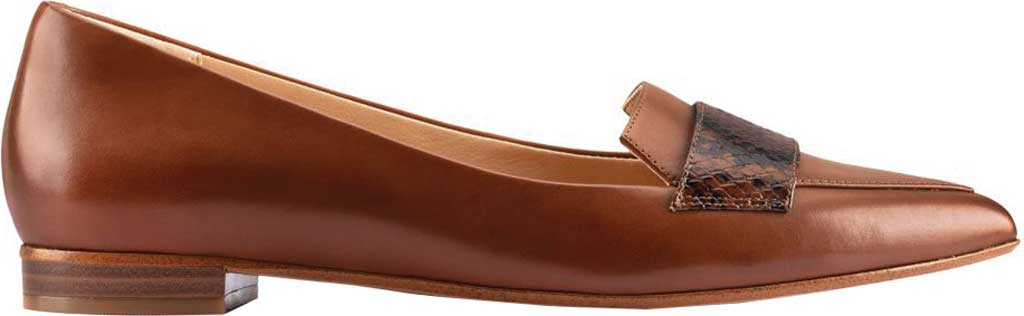 Women's Clarks Laina15 2 Loafer, Dark Tan Combination Leather, large, image 2