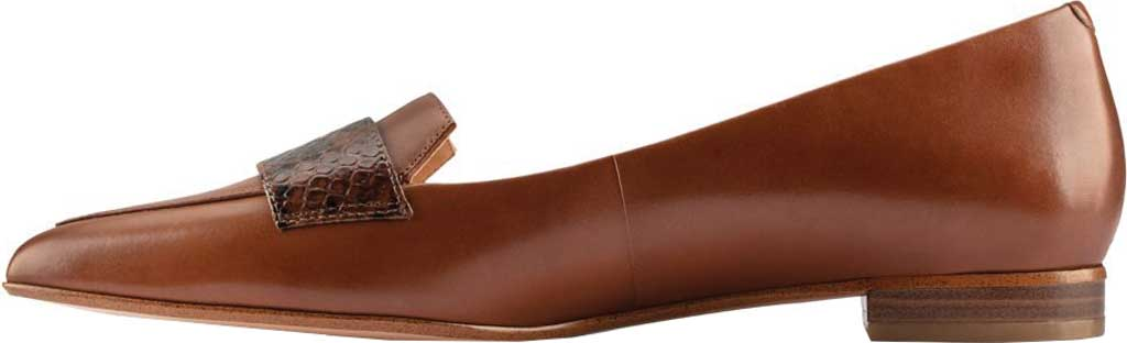 Women's Clarks Laina15 2 Loafer, Dark Tan Combination Leather, large, image 3
