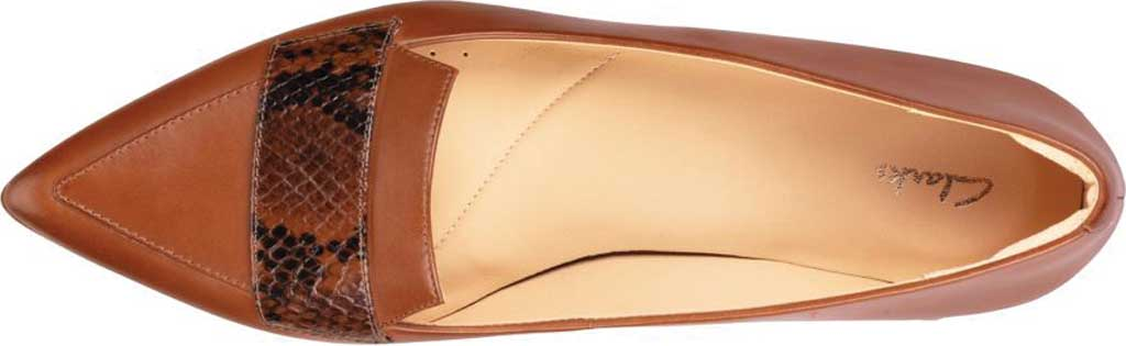 Women's Clarks Laina15 2 Loafer, Dark Tan Combination Leather, large, image 5