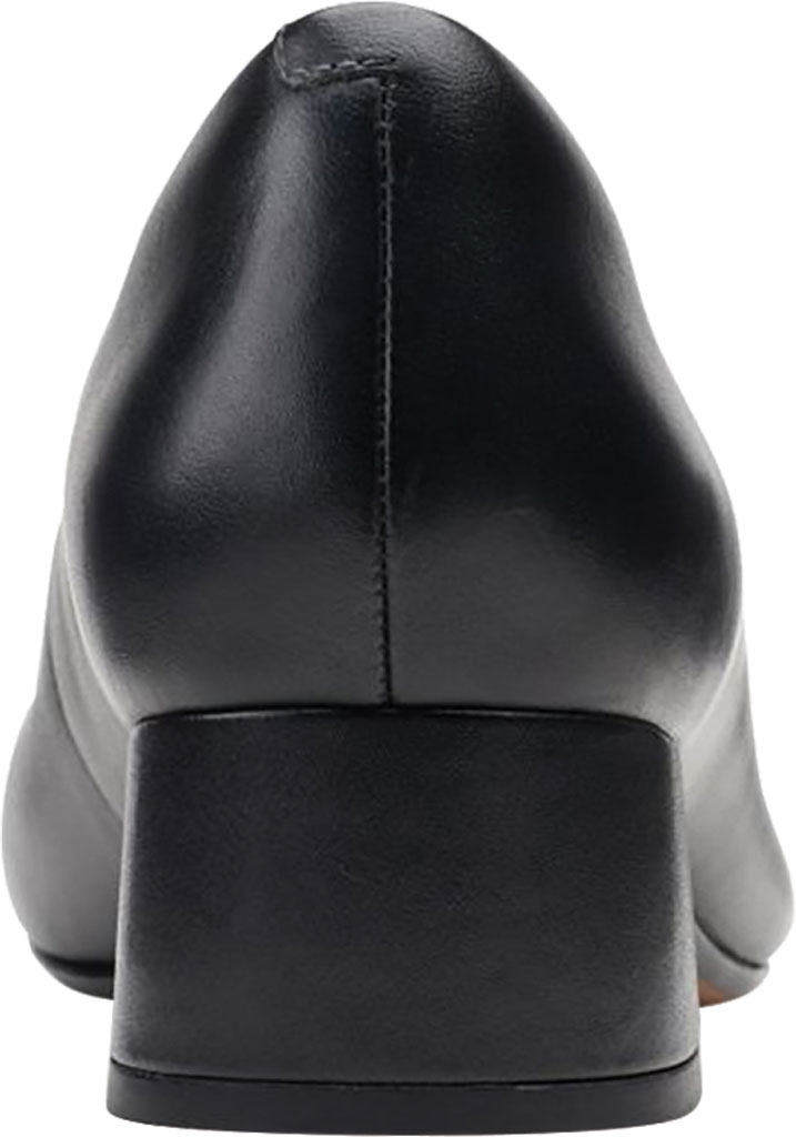 Women's Clarks Marilyn Leah Pump, Black Full Grain Leather, large, image 4