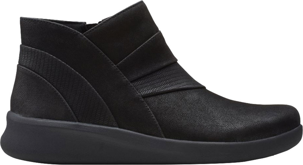 Women's Clarks Sillian 2.0 Rise Ankle Bootie, Black Synthetic, large, image 2