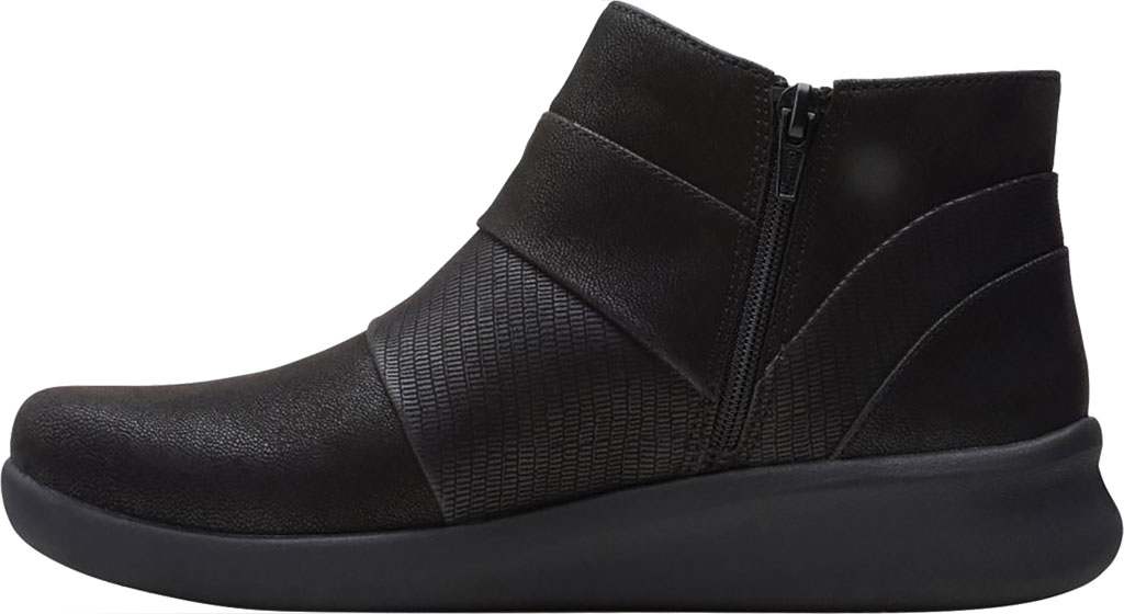 Women's Clarks Sillian 2.0 Rise Ankle Bootie, Black Synthetic, large, image 3