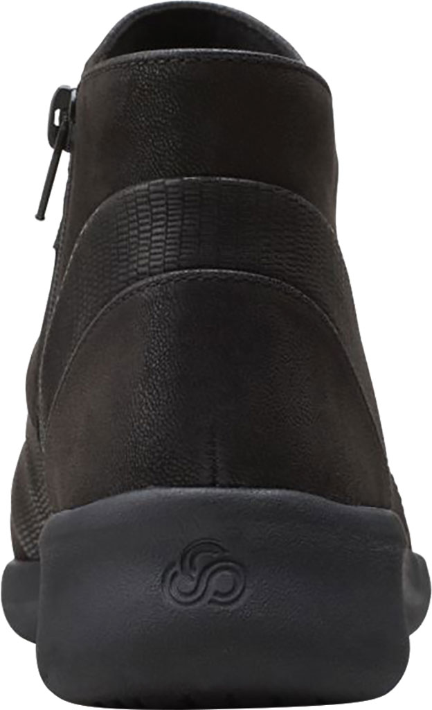 Women's Clarks Sillian 2.0 Rise Ankle Bootie, Black Synthetic, large, image 4