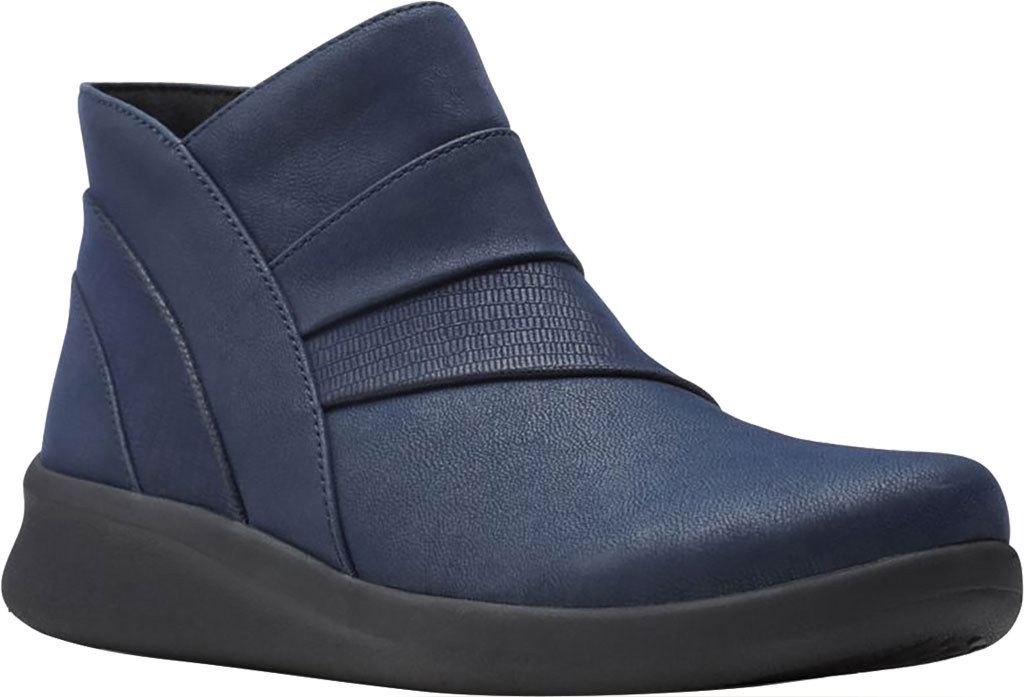 Women's Clarks Sillian 2.0 Rise Ankle Bootie, Navy Synthetic, large, image 1