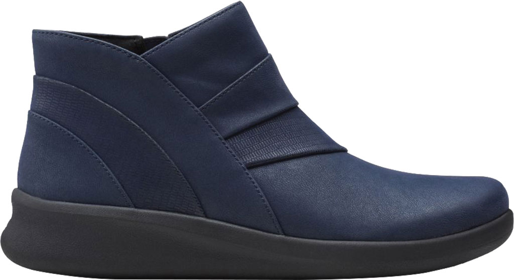 Women's Clarks Sillian 2.0 Rise Ankle Bootie, Navy Synthetic, large, image 2