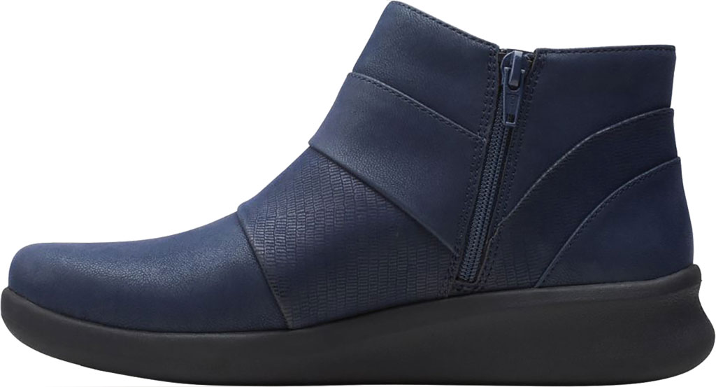 Women's Clarks Sillian 2.0 Rise Ankle Bootie, Navy Synthetic, large, image 3