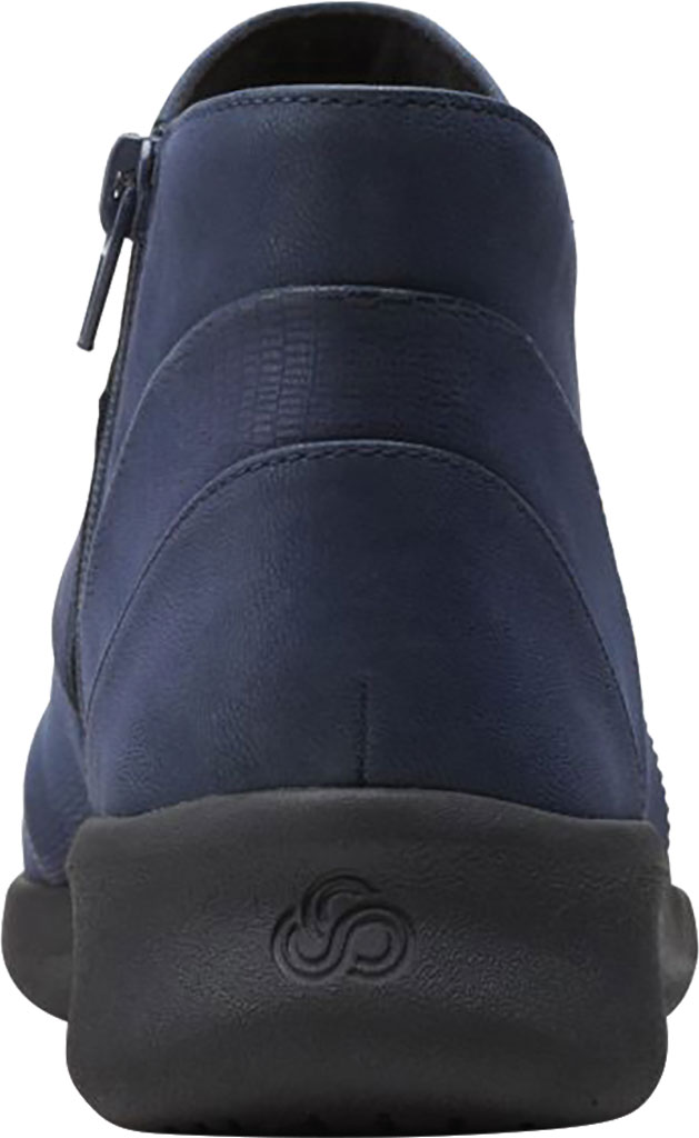 Women's Clarks Sillian 2.0 Rise Ankle Bootie, Navy Synthetic, large, image 4