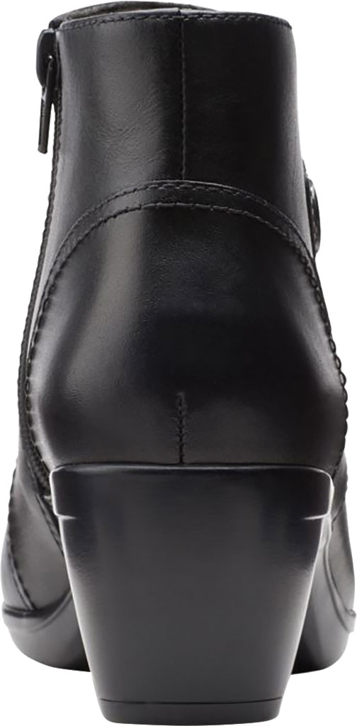 Women's Clarks Emily Calle Ankle Bootie, Black Full Grain Leather, large, image 4