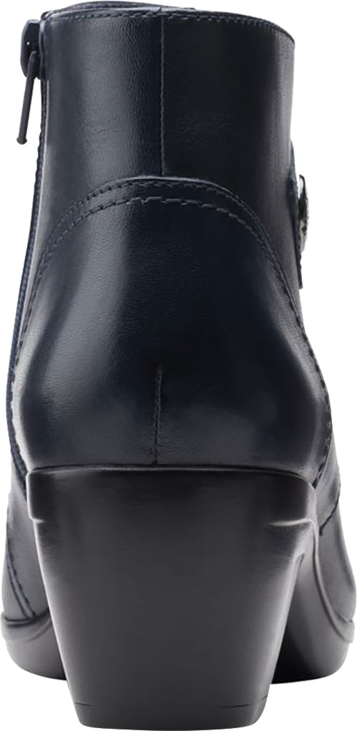 Women's Clarks Emily Calle Ankle Bootie, Navy Full Grain Leather, large, image 4