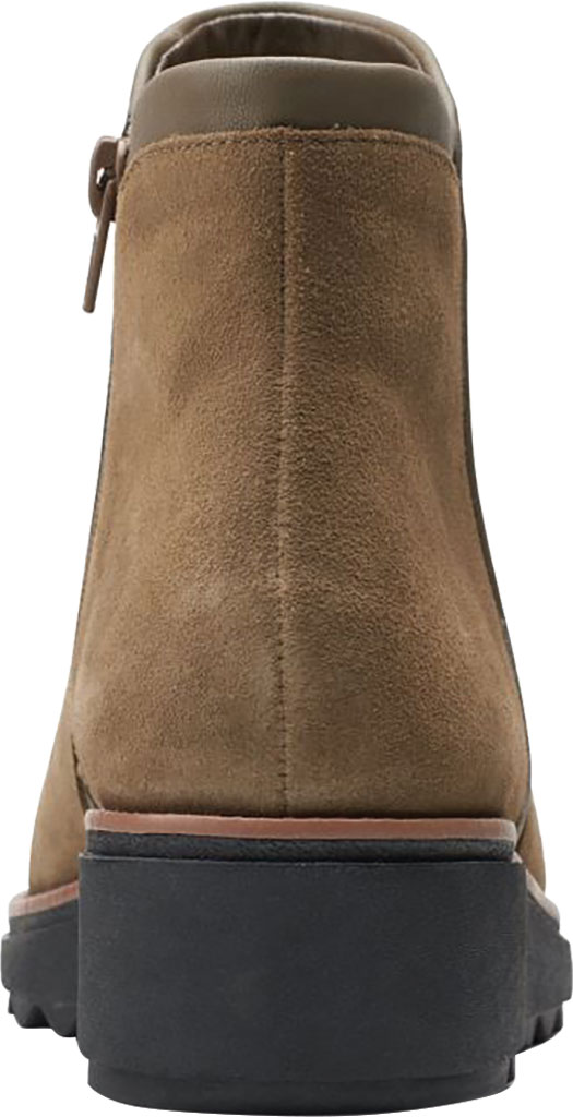 Women's Clarks Sharon Heights Ankle Bootie, Taupe Suede, large, image 4